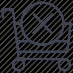 cancel, cart, ecommerce, shop, shopping icon