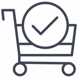 buy, cart, confirm, ecommerce, shop, shopping icon