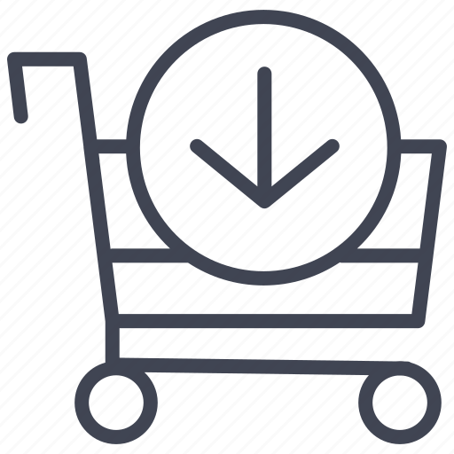 buy, cart, down, ecommerce, shop, shopping icon
