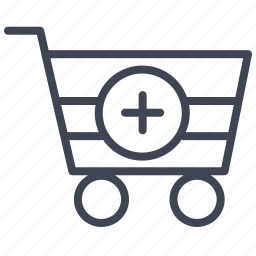 cart, ecommerce, new, plus, shop, shopping icon