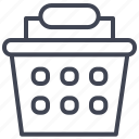 basket, handled, one, shop, shopping icon