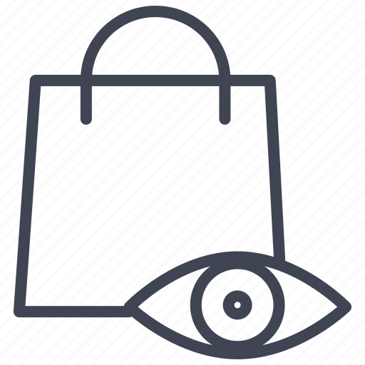 bag, eye, list, shopping, view, watch icon
