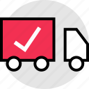 check, fast, mark, shipping, truck icon