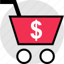 cart, dollar, ecommerce, shopping icon