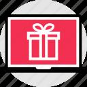 gift, laptop, mac, pc, suprise icon