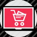 add, cart, merchandise, pc, shopping icon