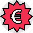 euro, funds, pay, price, sign, tag icon