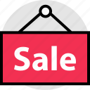 online, sale, sign, store icon