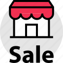 front, merchandise, sale, store icon