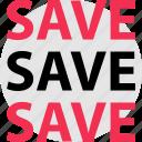big, huge, save, savings icon