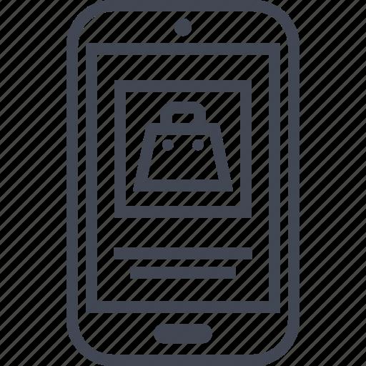 amazon, bag, buy, mobile, now, phone icon