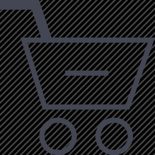 cart, ecommerce, negative, online, shop, shopping icon
