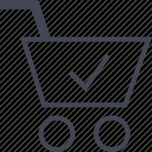 cart, check, mark, ok icon