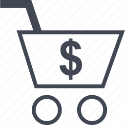 cart, dollar, ecommerce, online, shop, shopping icon