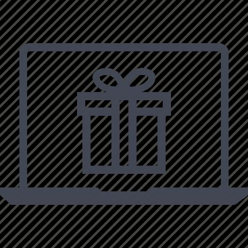 buy, gift, laptop, macys, online icon
