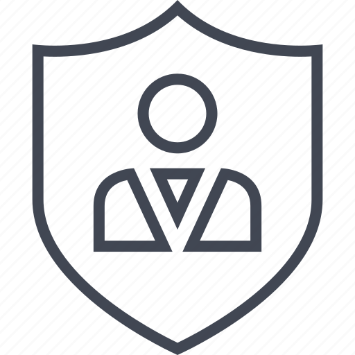 safe, secured, shield, user icon
