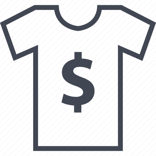 buy, dollar, now, sale, sign, tshirt icon