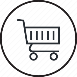 cart, line, sale, shopping icon