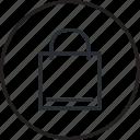 bag, line, sale, shopping icon