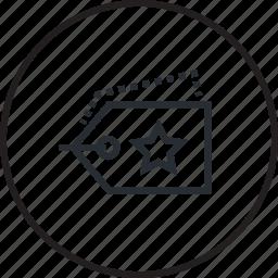 line, price, shopping, tag icon