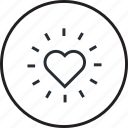 favorite, heart, line, shopping icon