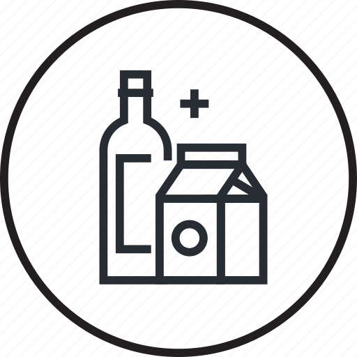 groceries, line, order, sale, shopping icon