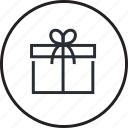 gift, line, order, package, sale, shopping icon