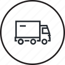 delivery, free, line, sale, shopping, transport, truck icon
