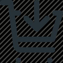 cart, e-commerce, market, move, shopping icon