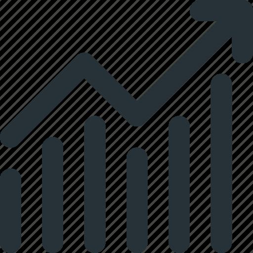 gain, graph, grid, profit, rise, sales icon