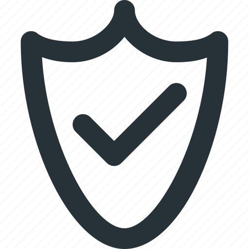 badge, checked, safety, security, trust icon
