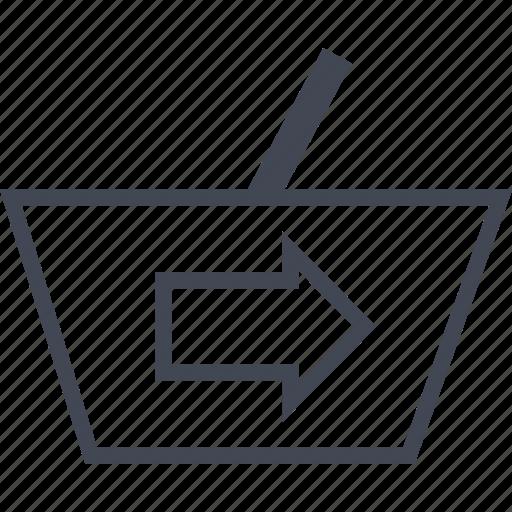 arrow, ecommerce, go, online, shop, shopping icon