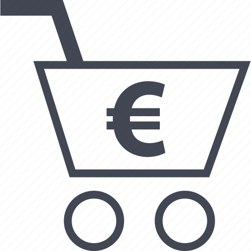 cart, ecommerce, euro, online, shop, shopping icon