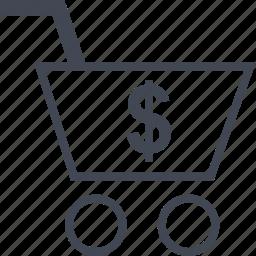 cart, dollar, ecommerce, online, shop, shopping icon