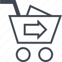 cart, checkout, go, next icon