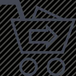 cart, checkout, go, next icon