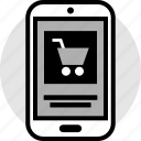 cart, cell, mobile, phone, shopping icon