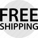 ecommerce, free, online, shipping, web icon