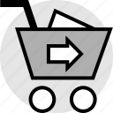 add, cart, go, item, shop, shopping icon
