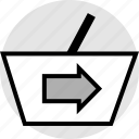 arrow, forward, go, next, pointer, right icon