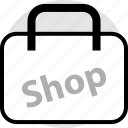 bag, merchandise, shop, sign icon