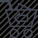 back, cart, ecommerce, online, shop, shopping icon