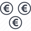 euro, money, pay, sign icon