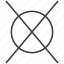 clean, dry, forbidden, no, prohibited, wash icon