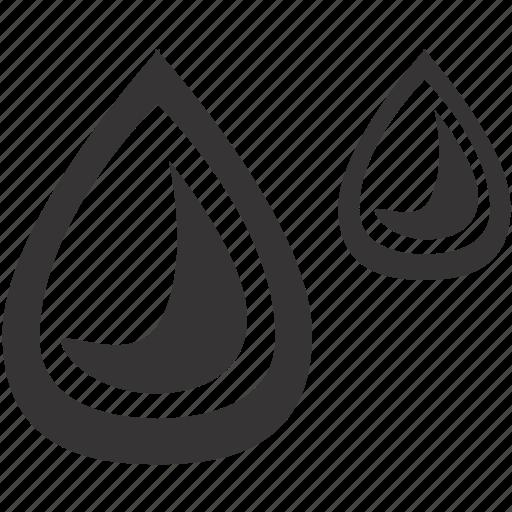 drops, fuel, moist, oil, rain, water, wet icon
