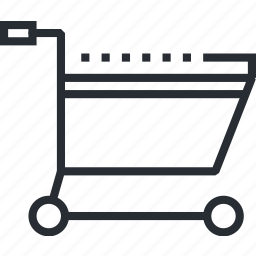 cart, line, media, pixel icon, shopping, social, thin icon