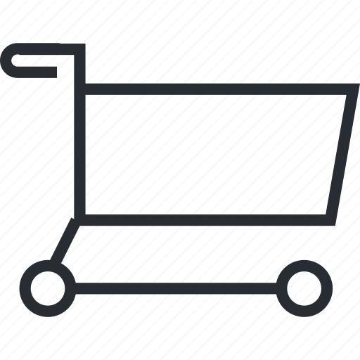 cart, line, pixel icon, sale, shopping, thin icon