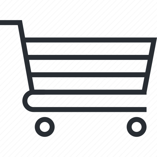 cart, line, m-commerce, pixel icon, shopping, thin icon