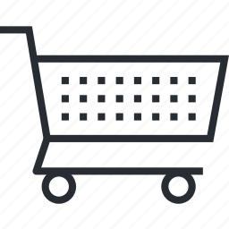 cart, e-commerce, line, order, pixel icon, shopping, thin icon