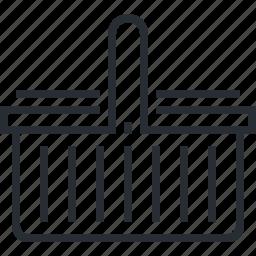 bag, basket, discount, line, pixel icon, shopping, thin icon